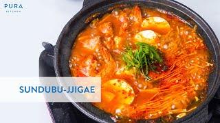 Homemade Kimchi Sundubu Jjigae…