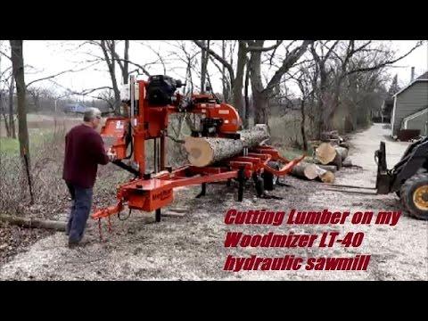 Cutting lumber on my Woodmizer LT-40 hydraulic sawmill