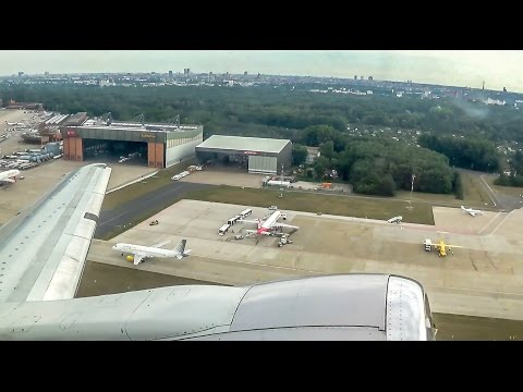 Air Baltic Boeing 737-500 taxi and takeoff in Berlin-Tegel!
