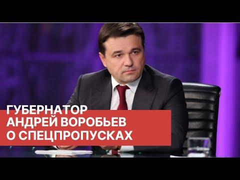 Губернатор Андрей Воробьев рассказал о поддержке бизнеса и спецпропусках для выхода из дома.