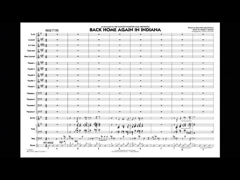 Back Home Again In Indiana arranged by John Clayton
