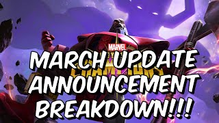 MARCH UPDATE ANNOUNCED! - Act 6.4, Boss Rush, New Objective System! - Marvel