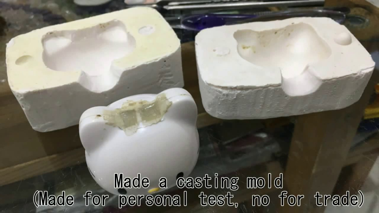 DIY - Casting lead into plaster mold