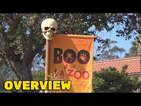 Boo at the Los Angeles Zoo - Halloween decorations overview