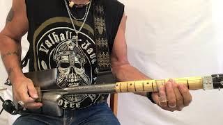 Who do you love Bo Diddley 3 string Shovel Guitar Lesson