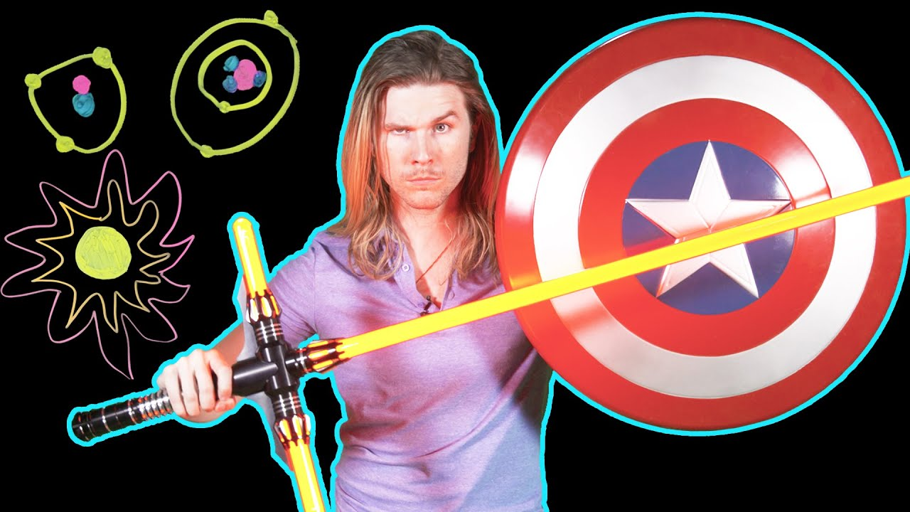 Could A Lightsaber Cut Through Captain America S Shield Because Science W Kyle Hill Youtube