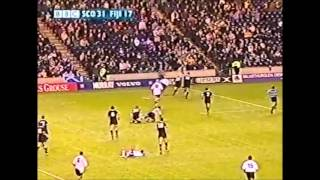 Fiji running rugby team try vs Scotland 2002