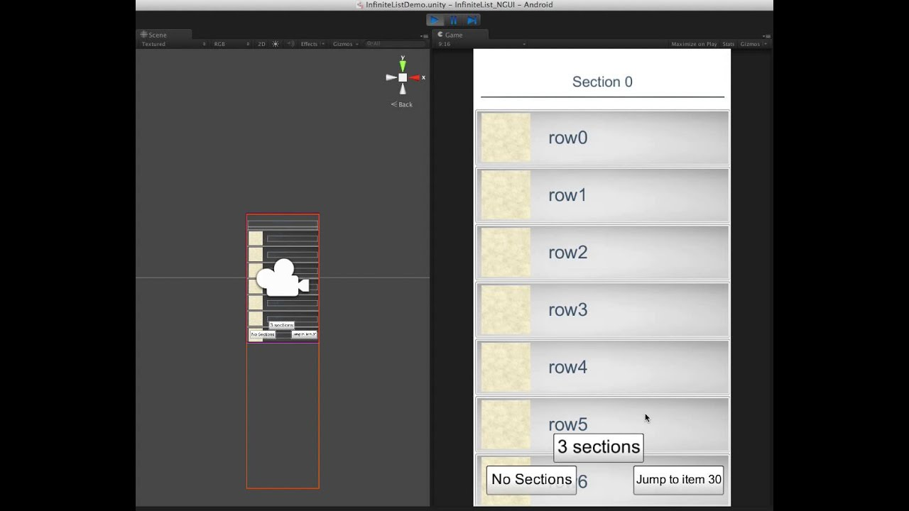 Infinite Scrolling UIScrollview For NGUI , Unity3D Game UI