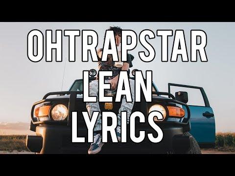 ohtrapstar  lean lyrics