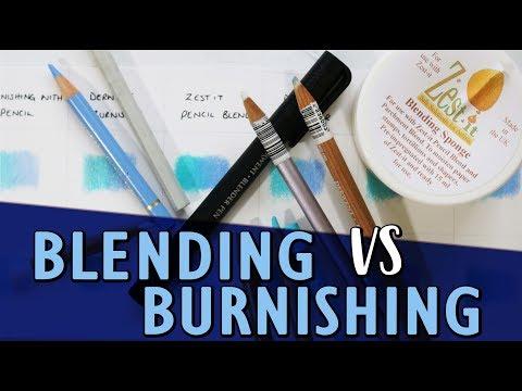 BLENDING VS BURNISHING   How To Blend Coloured Pencils   Tutorial