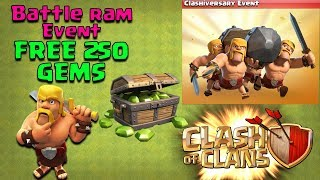 BATTLE RAM EVENT Is Here!!! - NEW TROOP In COC With FREE 250 GEMS - Clash of Clans