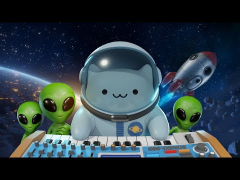 Кот в космосе мультфильм