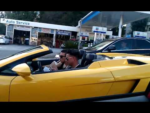 Pauly D and Vinnie Cruising in the Lambo  Celebrity Cars