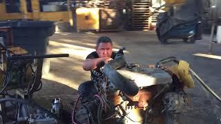 Rebuilt Perkins 1004 Engine with Transmission Video 1 (305) 594-4674