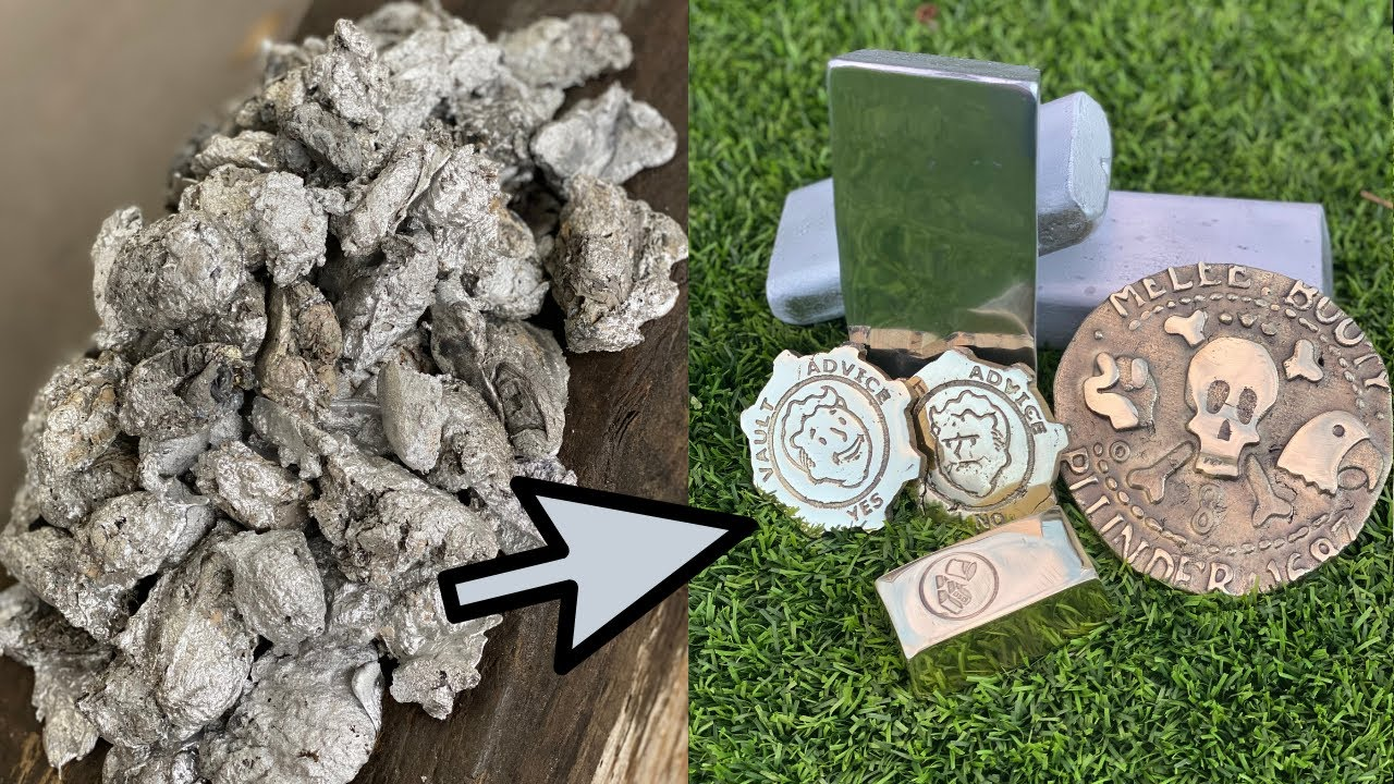 Slag  Melting- Trash To Treasure - Copper Brass - ASMR Metal Melting -BigStackD Casting