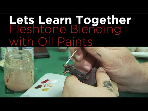Lets Learn Together: Blending Fleshtones with oil paints