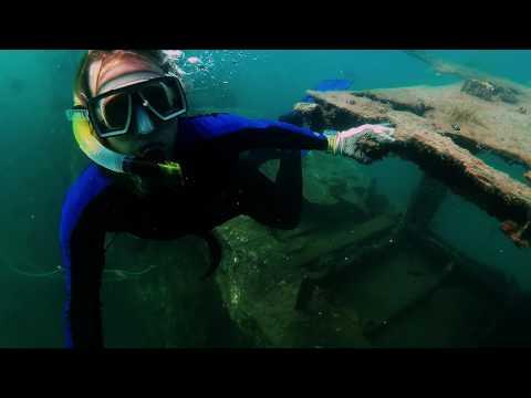 Freediving at Bongoyo Shipwreck in Tanzania