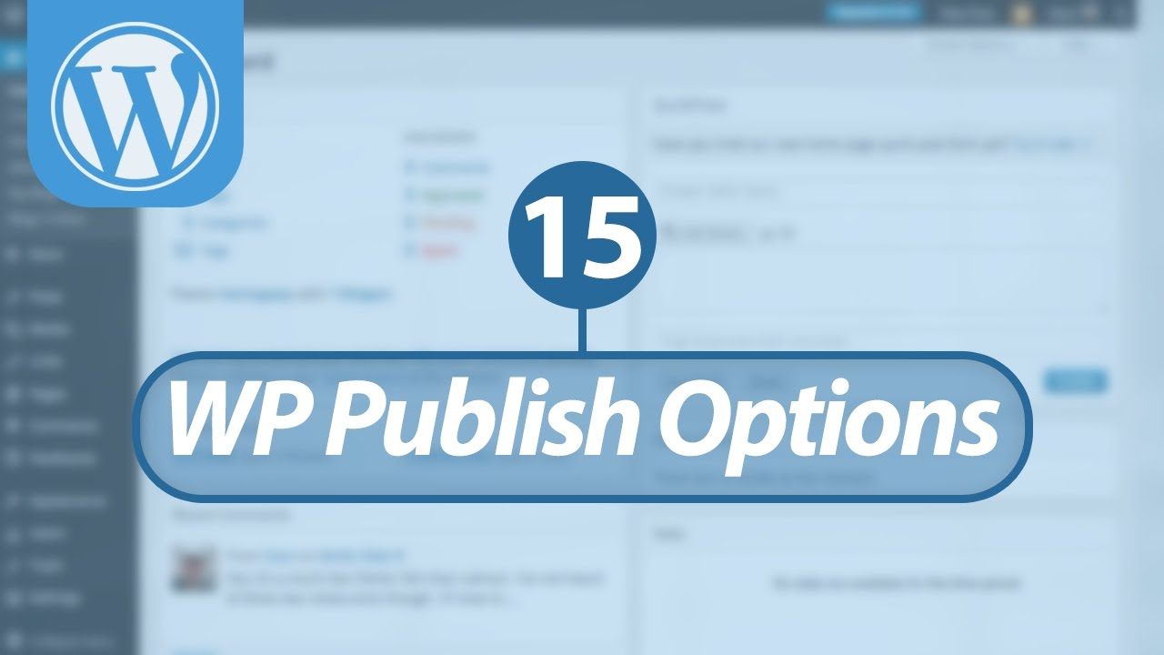 Mastering WordPress in Arabic #15 - WordPress Posts - Publish Options