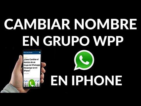 Cómo Cambiar el Nombre de un Grupo de WhatsApp en iPhone