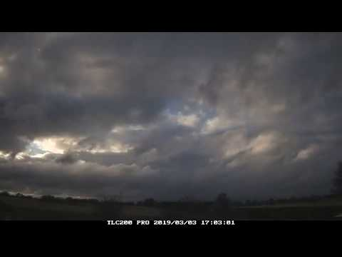 3rd March 2019 timelapse, Irlam: Storm Freya's approach
