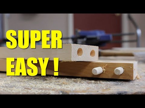 How To Make A Joint With Dowels With out A Jig.