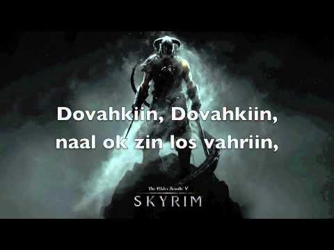 Dragonborn Song with Dragontongue lyrics