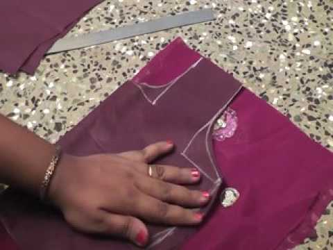 HOW TO MAKE LONG GOWN FROM SAREES CUTTING AND STITCHING.PART-1