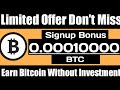 10000 Satoshi Signup Bonus  Earn BTC Daily  New Bitcoin Earning And Mining Site Without Investment