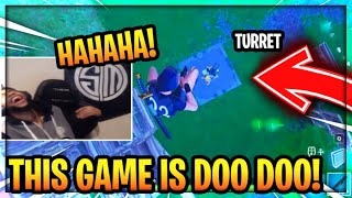 DAEQUAN Shows No Fall Damage *glitch* Using Turret Gun! Fortnite Best Moments