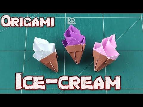 How to Make A Ice Cream Cone - Origami Ice Cream Paper Star Tutorials | DIY Paper Craft Ideas