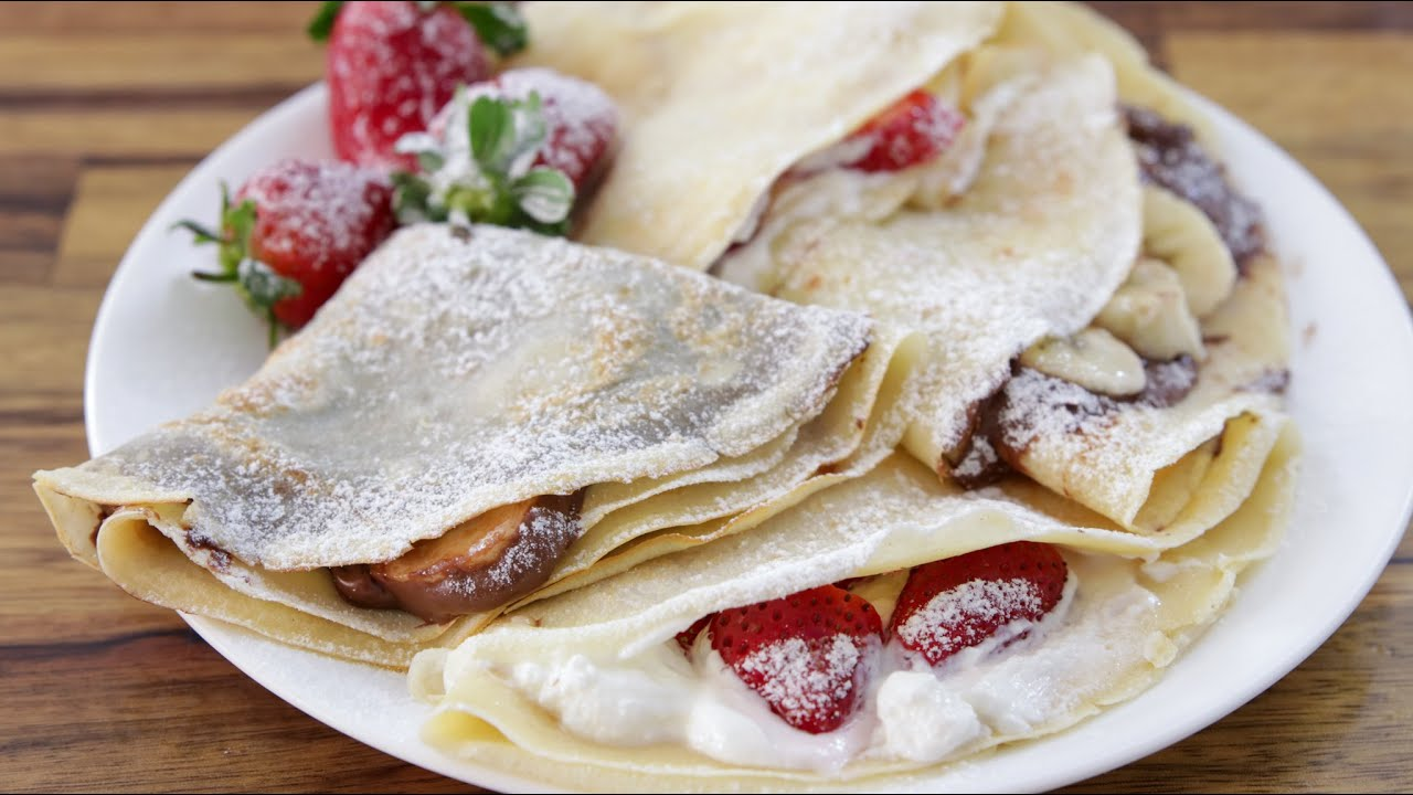 How To Make Crepes French Crepe Recipe Youtube