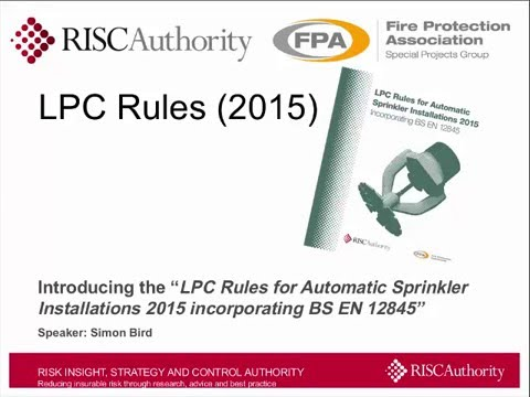 Overview of changes in the 2015 edition of the LPC Sprinkler Rules
