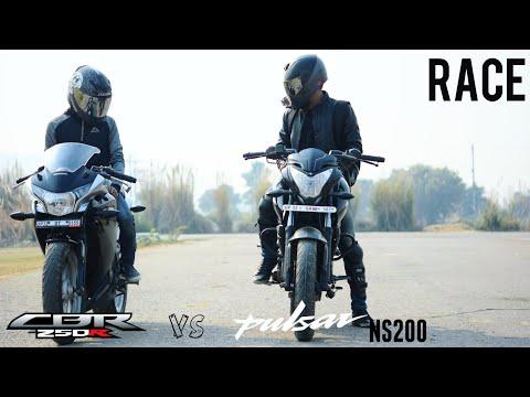 CBR 250r VS Pulsar NS200 RACE | CBR 250 - 0 to 100 test