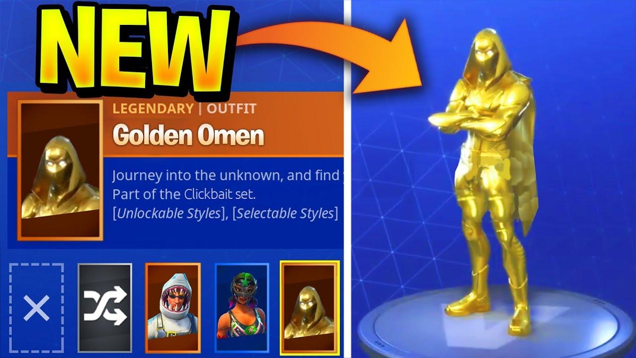 Golden Omen Skin Fortnite Skin Concept Youtube