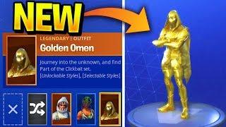 GOLDEN OMEN SKIN..??! // Fortnite Skin Concept