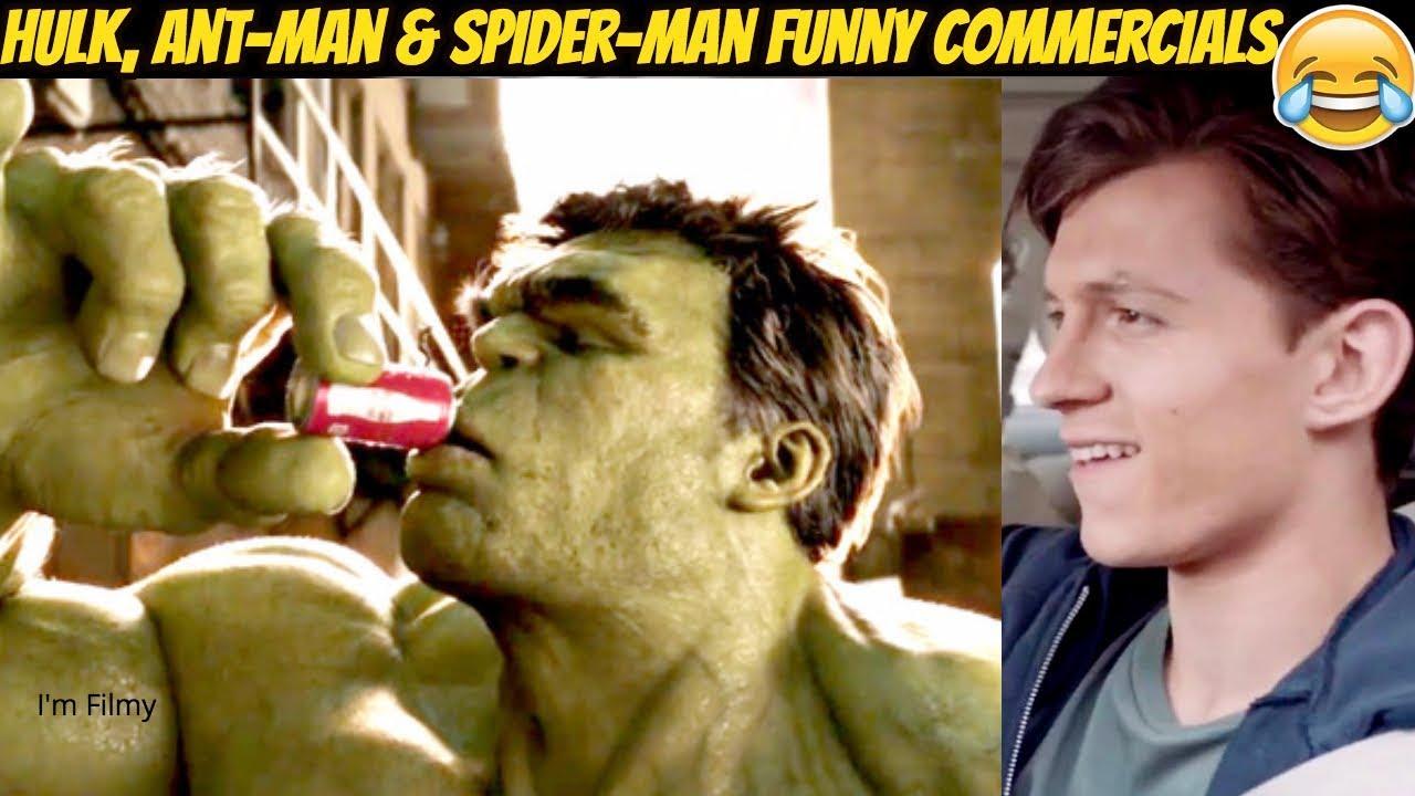 Marvel Superheroes Funny TV Commercials Ft  Tom Holland & Ryan Reynolds