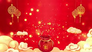 2020 Chinese New Year Spring Festival Red Annual Meeting 4K Free Background Material