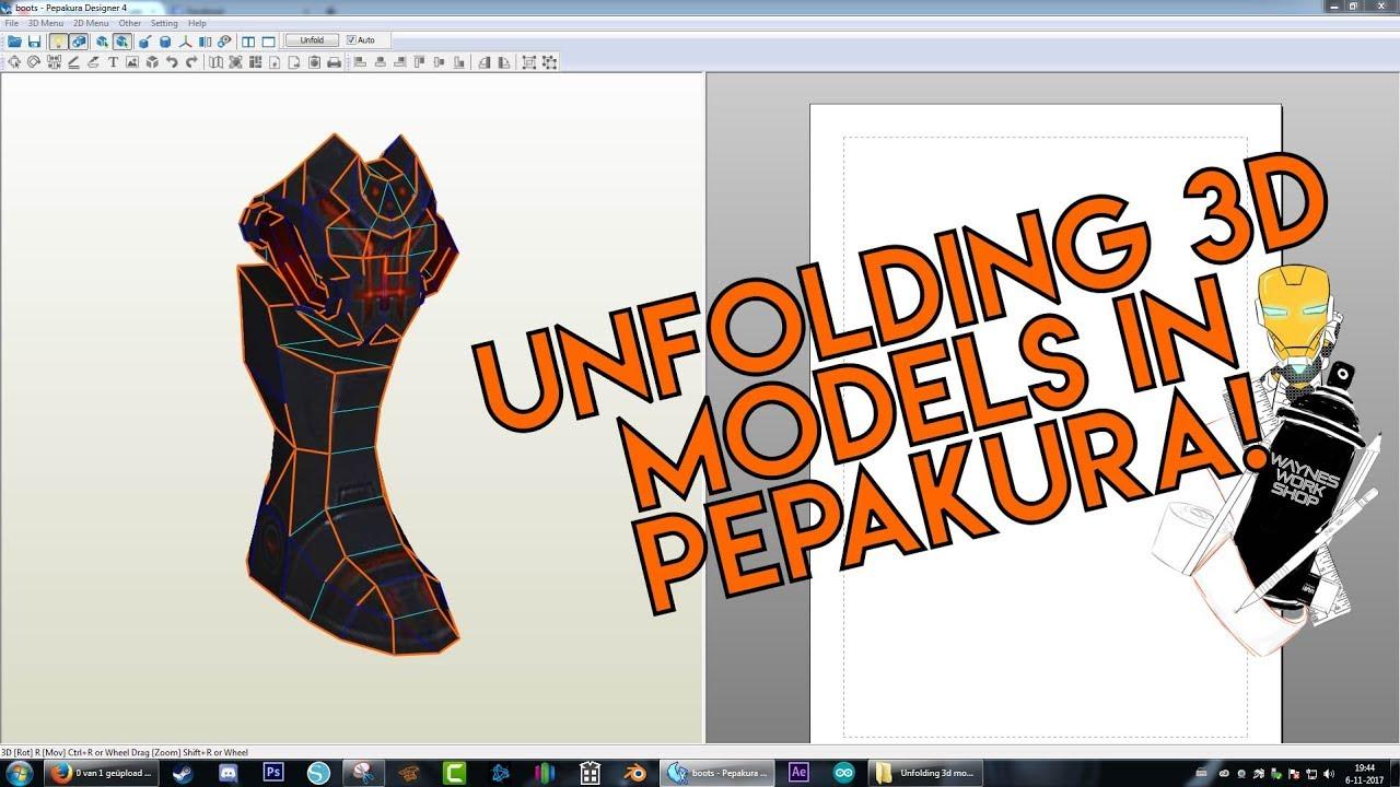 Unfolding 3d models in Pepakura