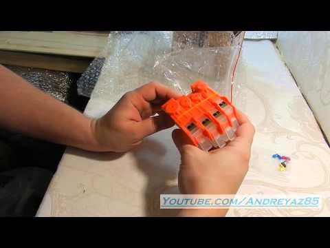 Как заправить перезаправляемые картриджи hp 178