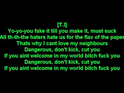 T.I - Welcome to the world lyrics
