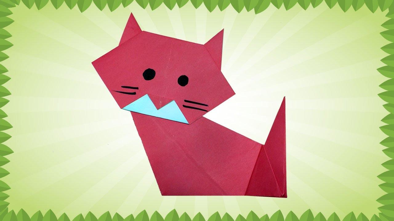 Origami Kitty | Origami cat, Cute origami, Kids origami | 720x1280