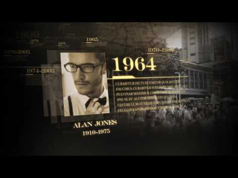 History Timeline After Effects Project Files Ae Templates