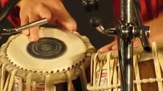 ustad zakir hussain playing a rela