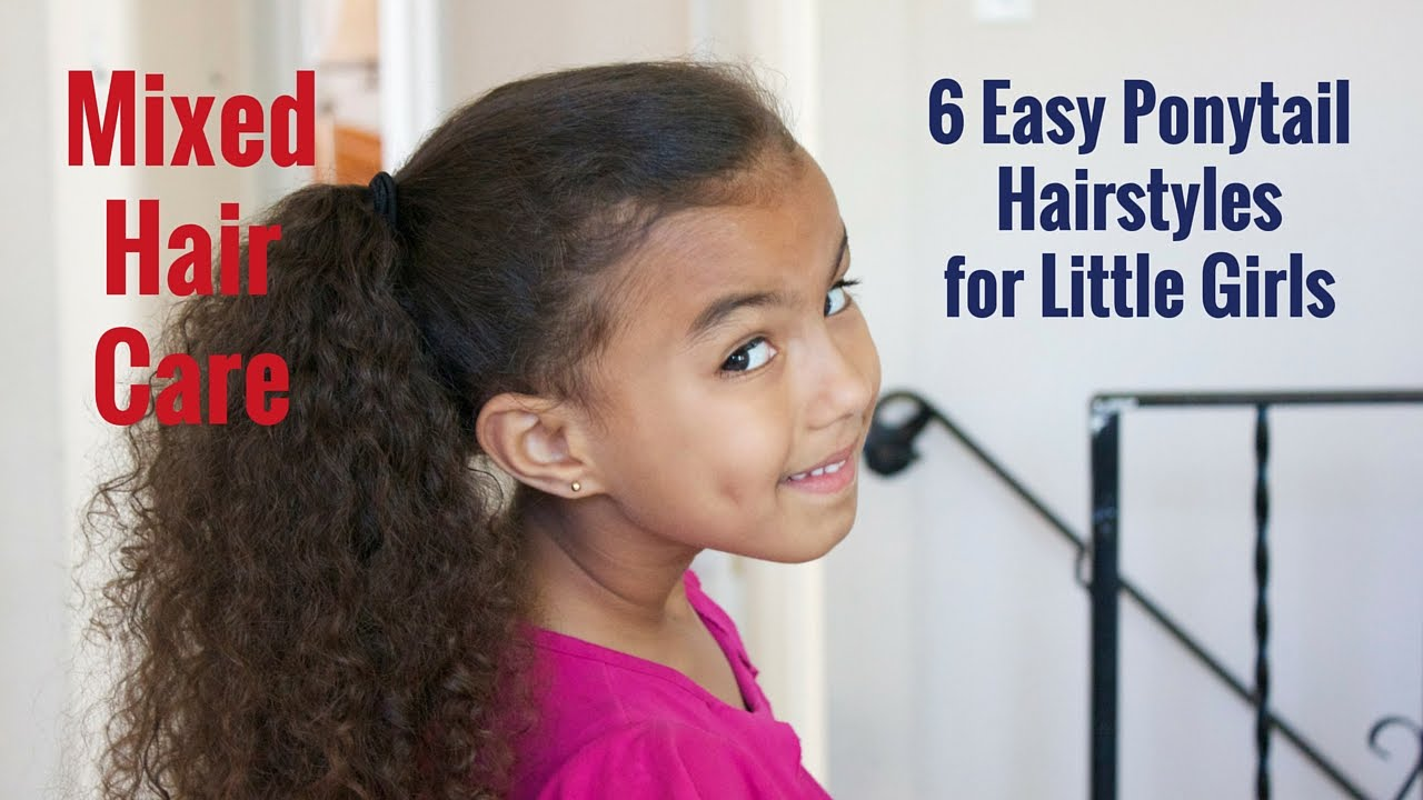 6 easy ponytail hairstyles for little girls - youtube