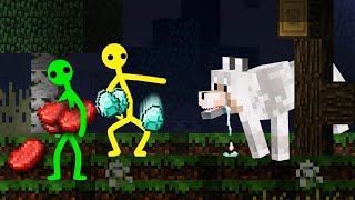 Minecraft, But There Are Random Drops - Stickman Animation