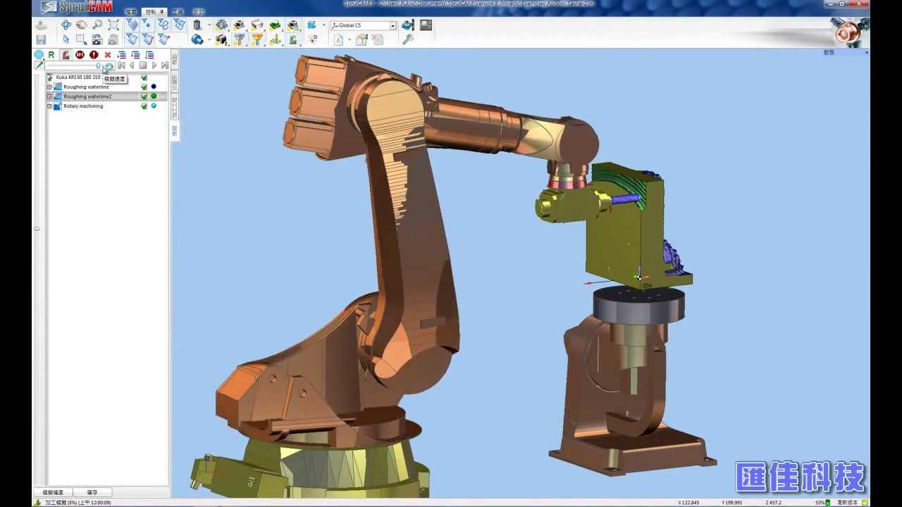 Sprutcam 機械手臂robotics Hd Youtube