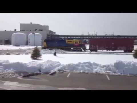 Cincinnati East Terminal RY Working Huhtamaki!  Rare GP49 In Snow!