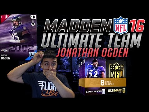 THE BIGGEST PACK OPENING EVER FOR JONATHAN OGDEN!- MADDEN 16 ULTIMATE TEAM PACK OPENING