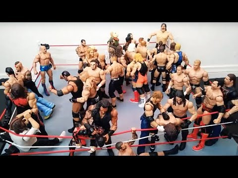41-Man Battle Royal - Championship of Choice: WWE Action Figure Stop Motion
