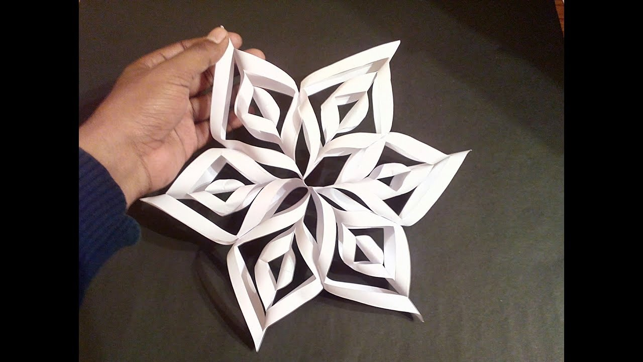 How To Make Simple Easy Paper Cutting 3d Flower Paper Flower Diy Tutorial By Step By Step